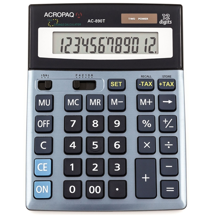 Picture of ACROPAQ AC890T - Desktop size calculator big display TAX