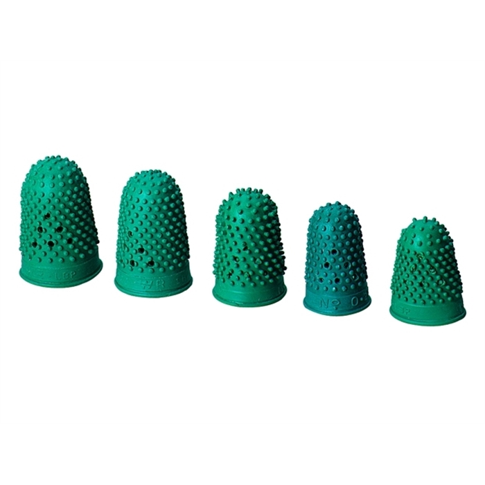 Picture of ALCO AL-768 - Finger guard nr. 5 rubber 22 mm box of 10 pieces, Green