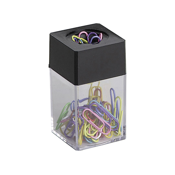 Picture of ALCO AL-2217 - Paper clips 42x42x70 mm angular magnetic box of 10 pcs, Black