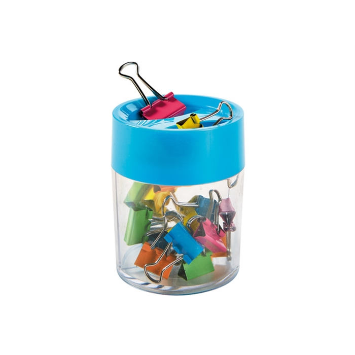 Picture of ALCO AL-2222-26 - Alco paper clips, In a round magnetic box, Assorted, 18 pieces