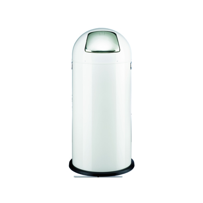Picture of ALCO AL-2905-10 - Waste bin pushboy height 84 cm diameter 37 cm 52 litres, White