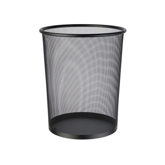 Picture of ALCO AL-2924-11 - Paper basket in perforated metal 15 litres height 35 cm taps 29-23 cm, Black
