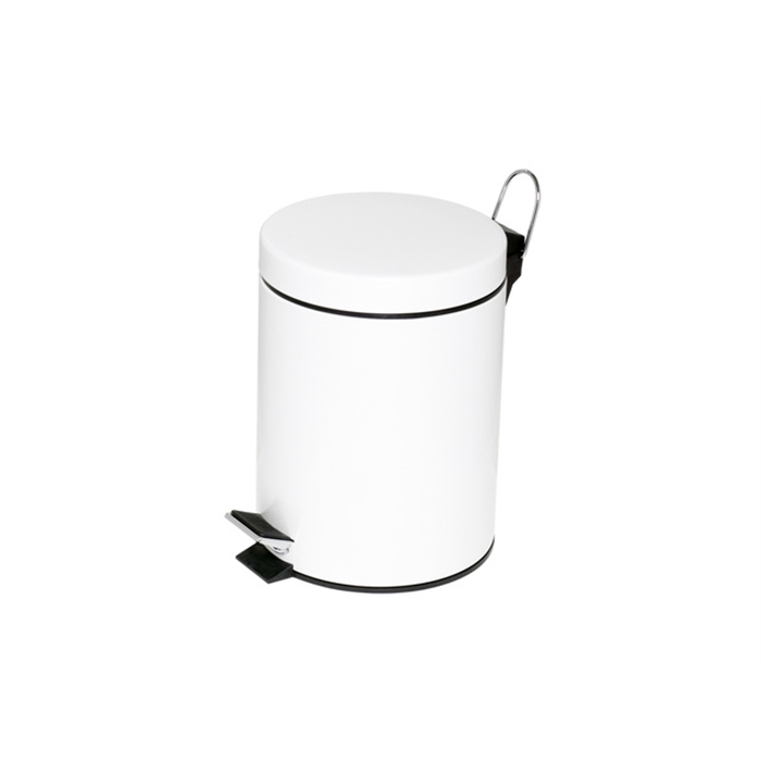 Picture of ALCO AL-2960-10 - Pedal bin height 28,5 cm diameter 20,5 cm 5 litres, White