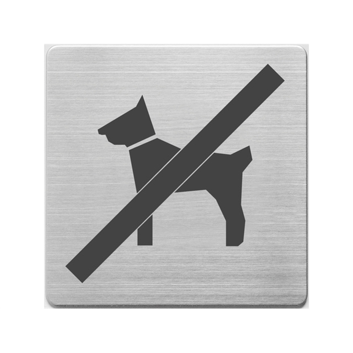 Picture of Pictogrammes en inox, Alco 90x90x1mm chien interdit