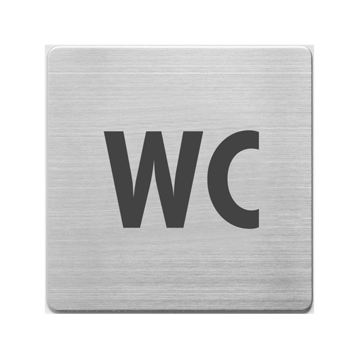 Picture of Pictogrammes en inox, Alco 90x90x1mm WC