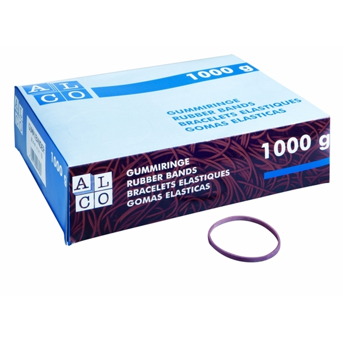 Picture of ALCO AL-745 - Rubber band, Extra large package: 1 kg, Rubber, Ø 65 mm, Red