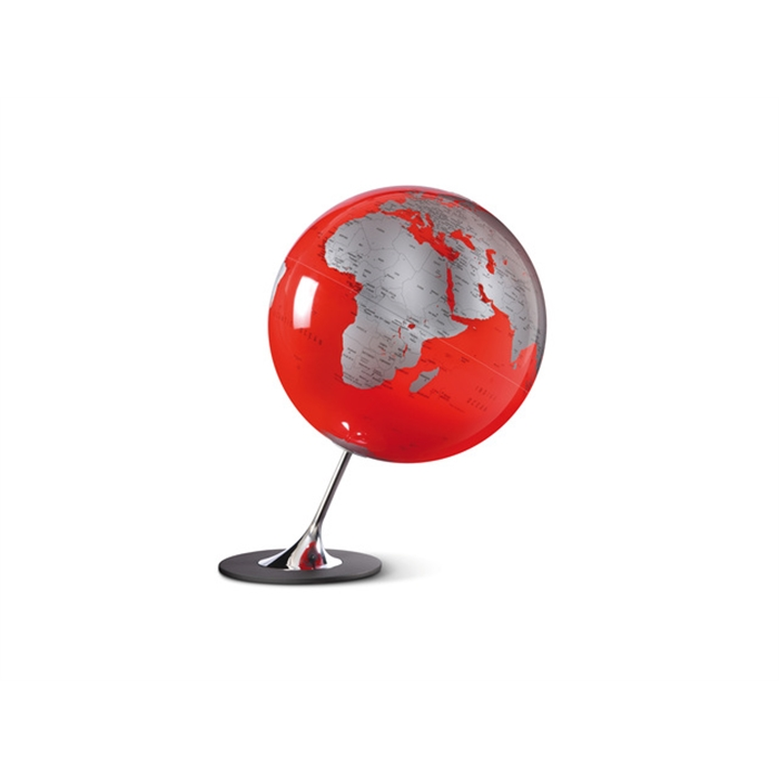 Picture of ATMOSPHERE NR-0324AGYR-GB - Globe Anglo Red, Ø 25 cm, metal and chrome foot, English