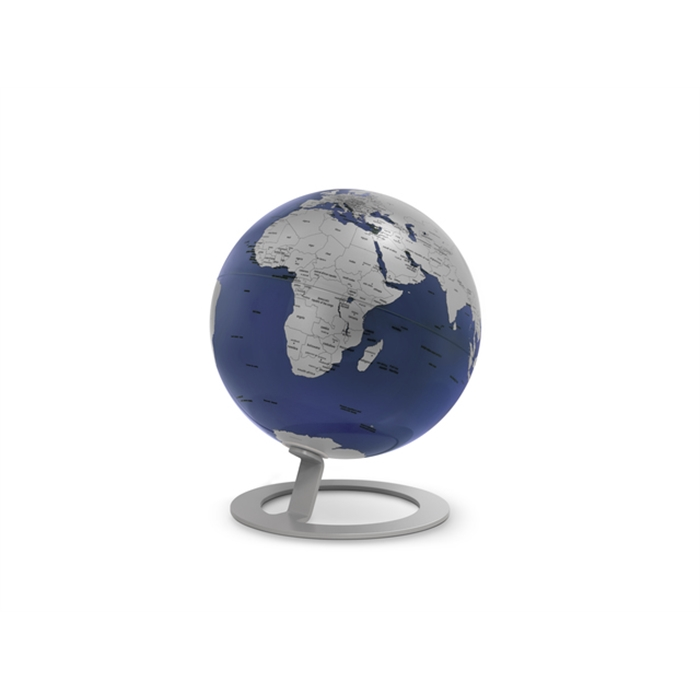 Picture of ATMOSPHERE NR-0324IGMB-GB - Globe iGlobe Blue, Ø 25 cm, metal and chrome, English