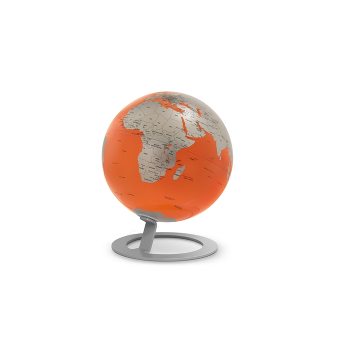 Picture of ATMOSPHERE NR-0324IGMO-GB - Globe iGlobe Orange, Ø 25 cm, metal and chrome, English