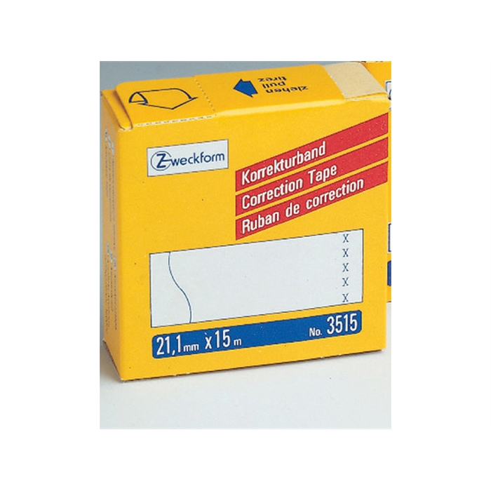 Picture of AVERY ZWECKFORM 3515 - Correction/cover tape, 21,1x15 mm, 5 lines, White