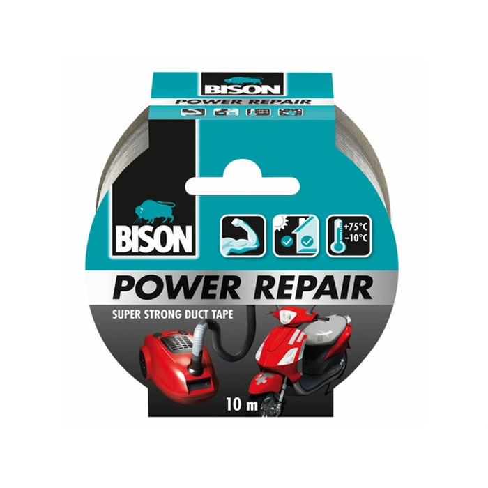Afbeelding van *Bison Power repair tape grijsrol 10m