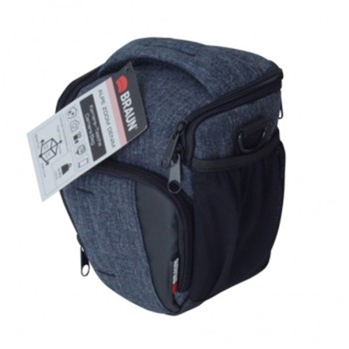 Picture of BRAUN PHOTO TECHNIK 172951 - ALPE SUPERZOOM DENIM Camera Bag, Anthracite