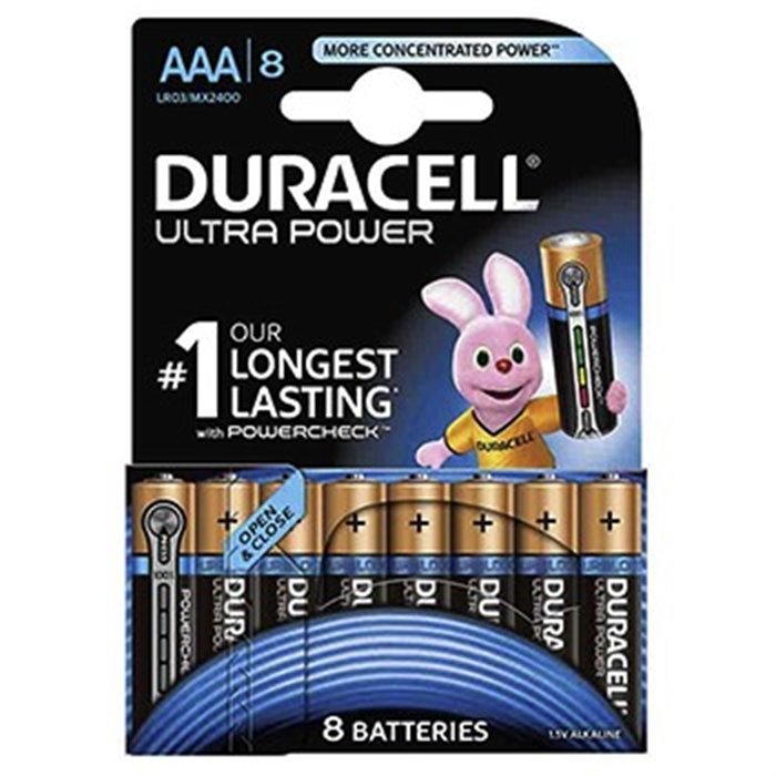 Picture of AAA Battery Ultra Power Duralock MX2400, 1,5 V, 8 Pieces, Promotion
