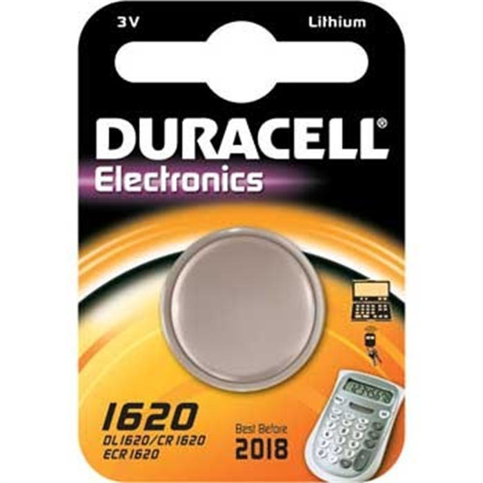 Picture of Button Cell CR1620, Lithium, 3 Volt, Silver