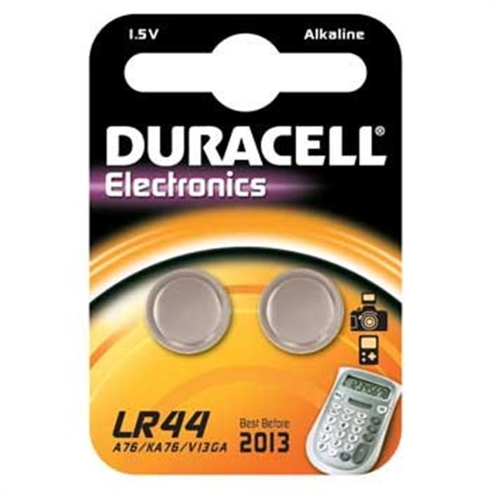 Picture of Button Cell LR44, Alkali-Mangan, 1,50 V, 2 Piece, Silver
