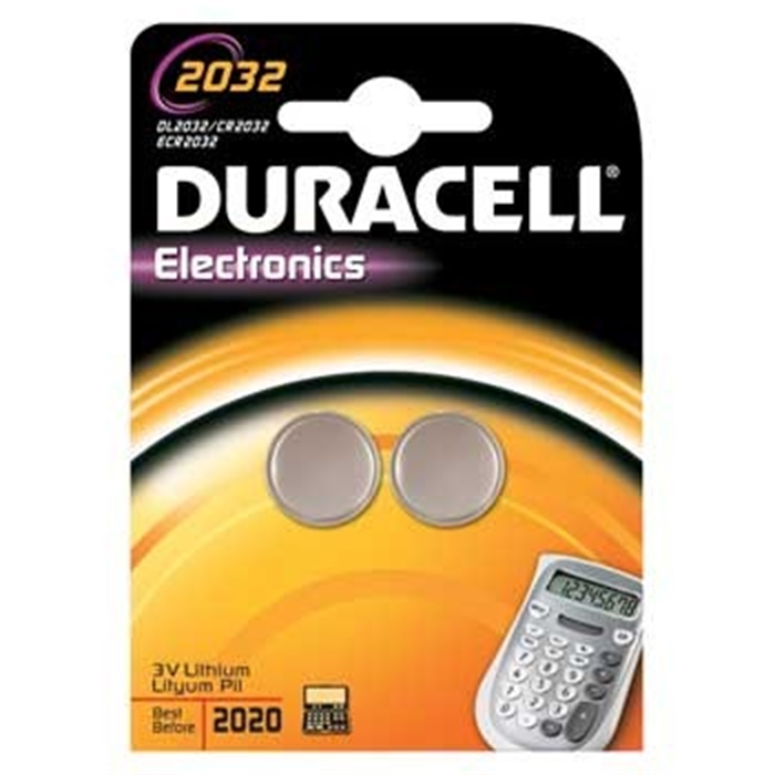 Picture of Button Cell CR2032, Lithium, 3 Volt, Blister 2 Silver