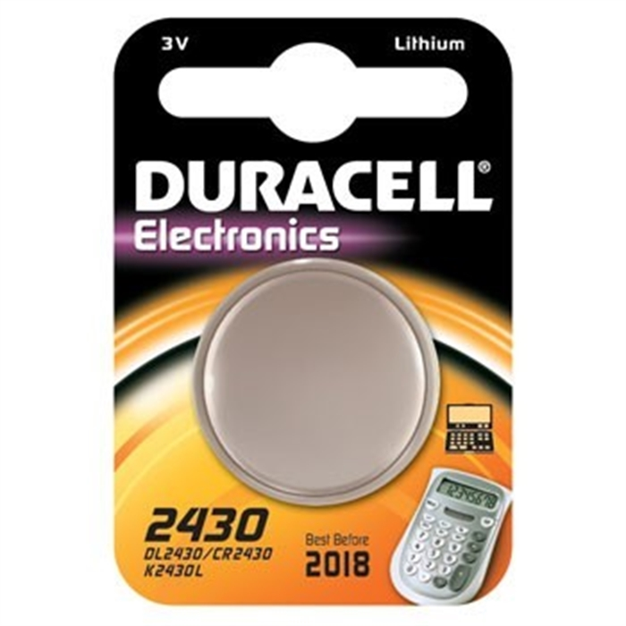 Picture of Button Cell CR2430, Lithium, 3 V, Silver