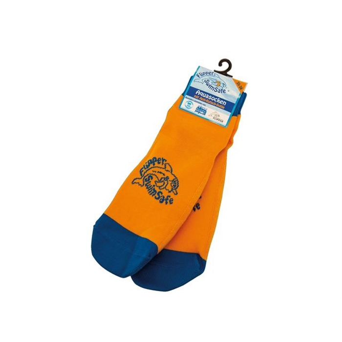 Picture of Flipper Swimsafe chaussettes aqua taille 35-38 orange/bleu