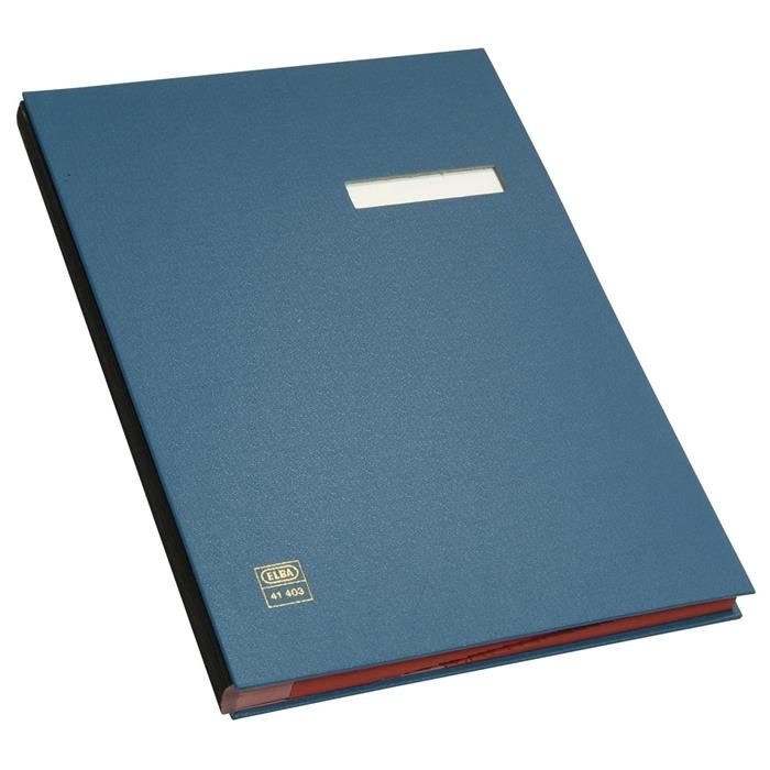 Picture of ELBA Signature book, A4, case-made PVC cover, 20 dividers, blue
