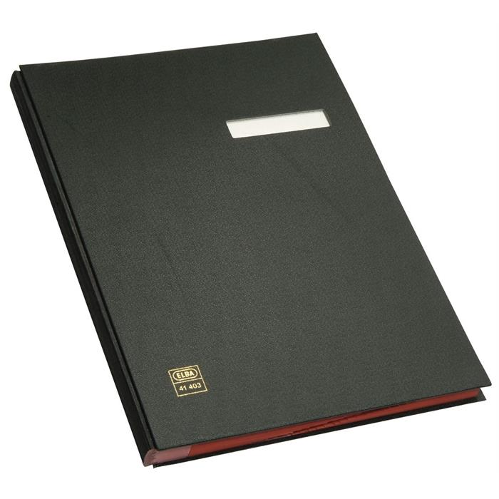 Picture of ELBA Signature book, A4, case-made PVC cover, 20 dividers, black
