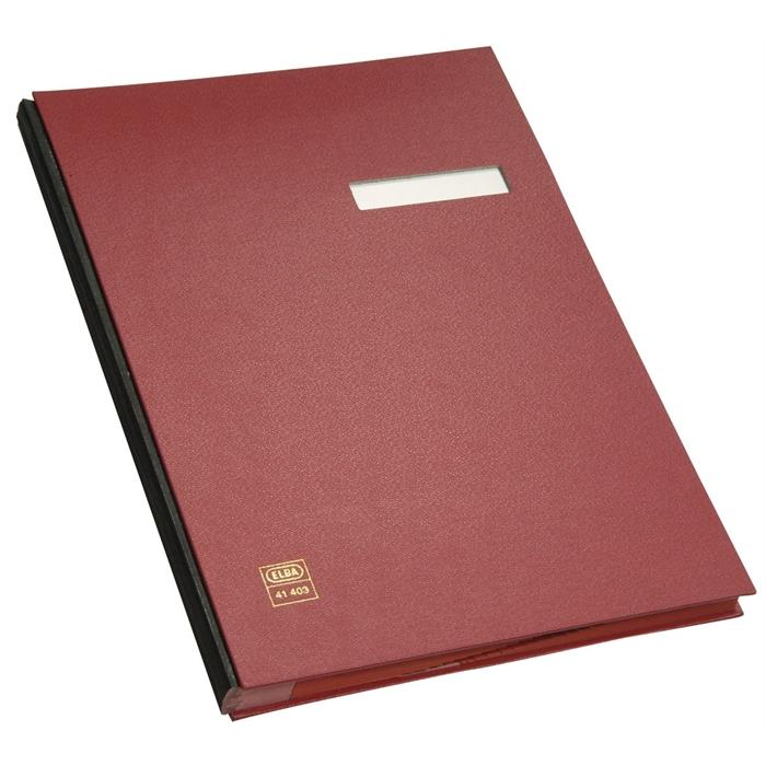 Picture of ELBA Signature book, A4, case-made PVC cover, 20 dividers, red