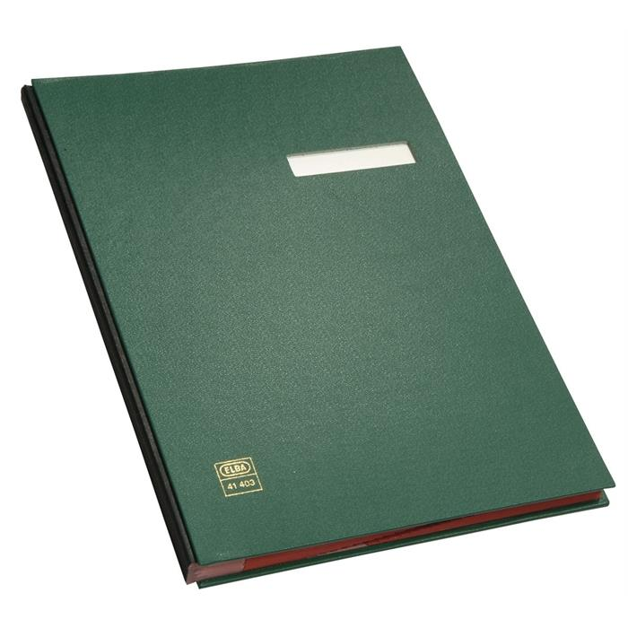 Picture of ELBA Signature book, A4, case-made PVC cover, 20 dividers, green