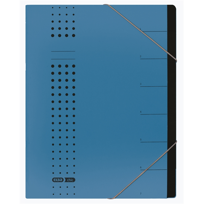 Picture of ELBA chic sorter, A4, cover 450 gsm card, 7 dividers, blue