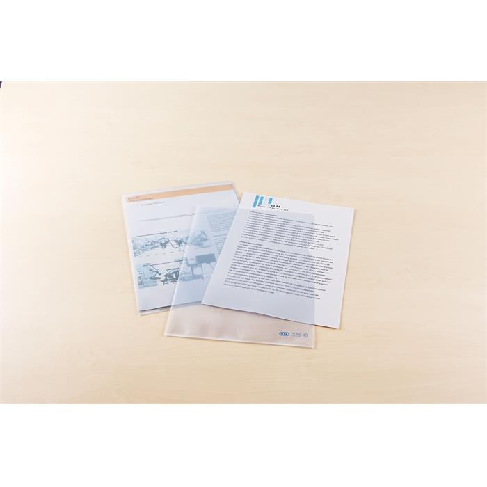 Picture of Box of 100 L-Folders Elba A4 Polypropylene 120µ Embossed Clear