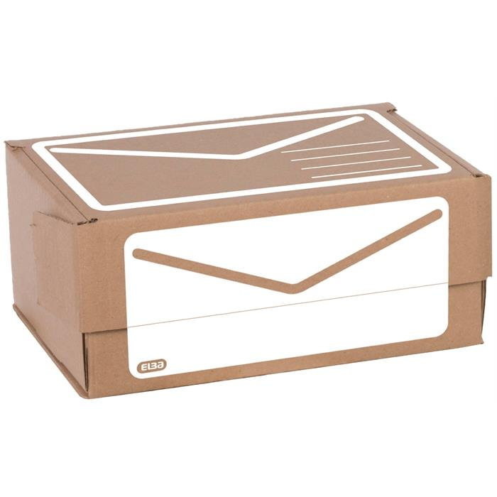 Picture of Elba Shipping Box A4; Manual Folding; Adhesive Closure; Set Of 10