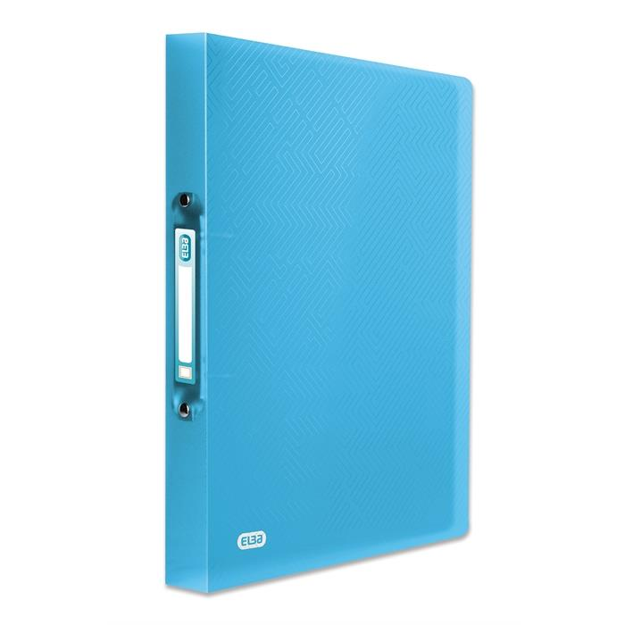 Picture of ELBA Ring Binder Urban A4 20mm Spine 2 rings translucent Turquoise Blue