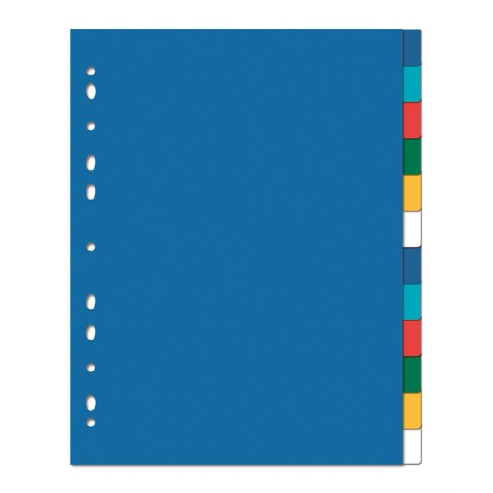 Dividers Neutral Elba A4+ 12 Tabs Pp 12/100 Assorted, Picture 1