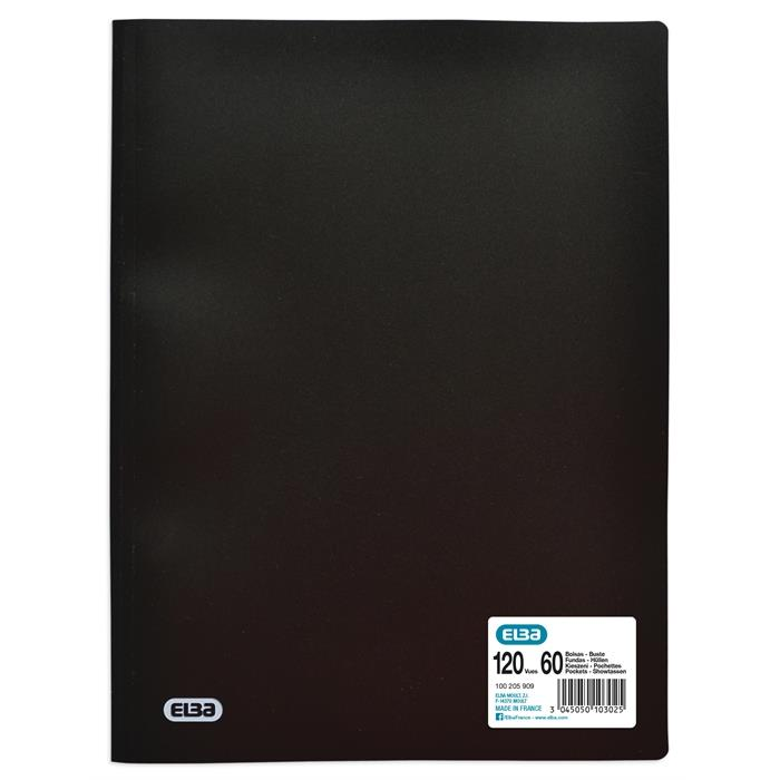 Display Book Elba Initial A4 60 Pockets Black, Picture 1