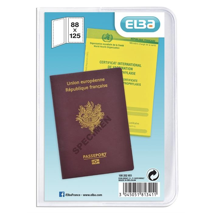 Picture of U-Pocket 2 flaps for Passport Elba PVC 200µ Clear