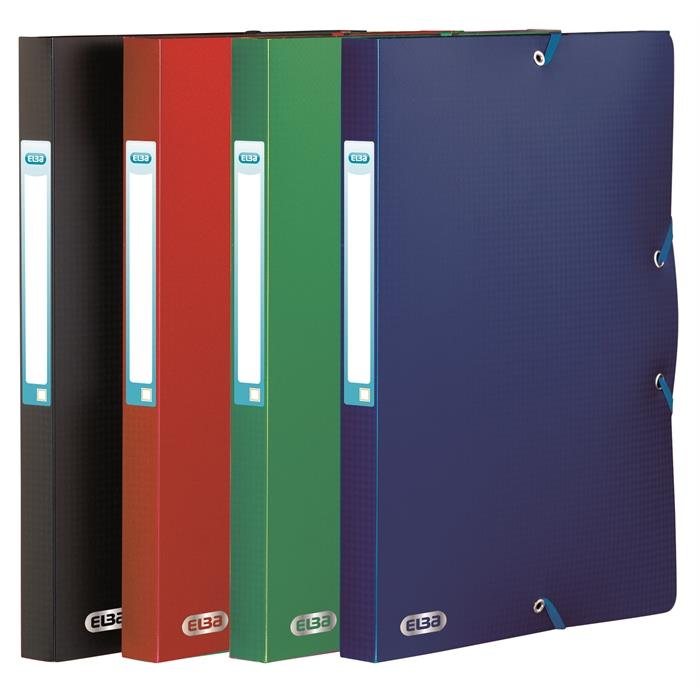 Standard capacity Filing Box Elba Memphis 24x32 25mm spine Assorted 4 Colours, Picture 1