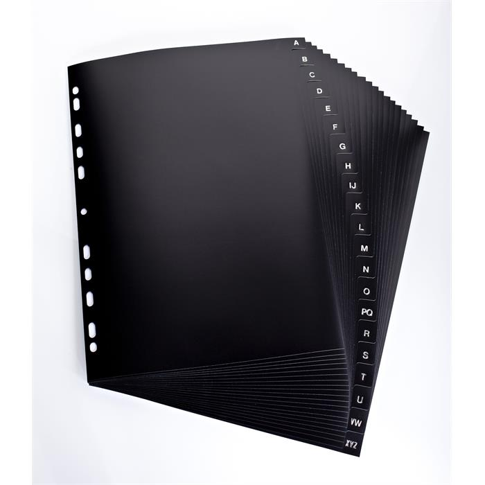 Elba New Black A4 20 part A-Z 11 holes dividers PP 150µ black, Picture 2