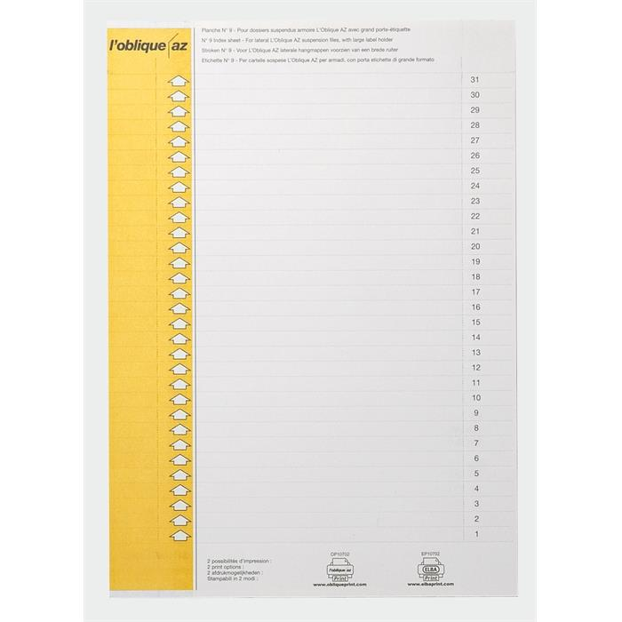 Picture of Elba type9 157x7mm labels yellow