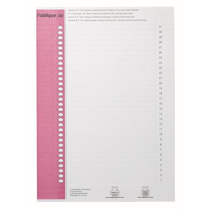 Picture of Elba type9 157x7mm labels pink