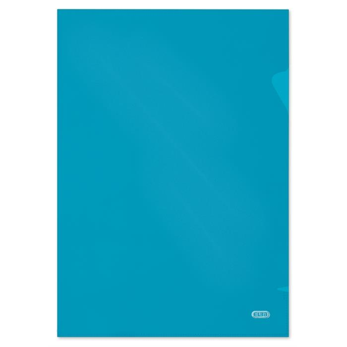 Bag of 10 L-Folders Elba Shine A4 Polypropylene 120µ Smooth Blue, Picture 1