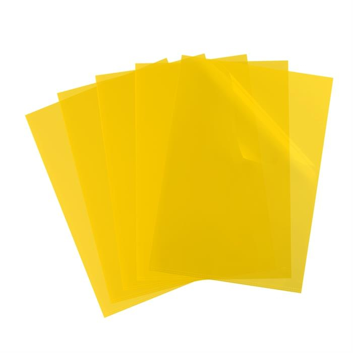 Picture of Bag of 10 L-Folders Elba Shine A4 Polypropylene 120µ Smooth Yellow