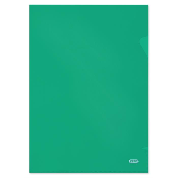 Picture of Bag of 10 L-Folders Elba Shine A4 Polypropylene 120µ Smooth Green