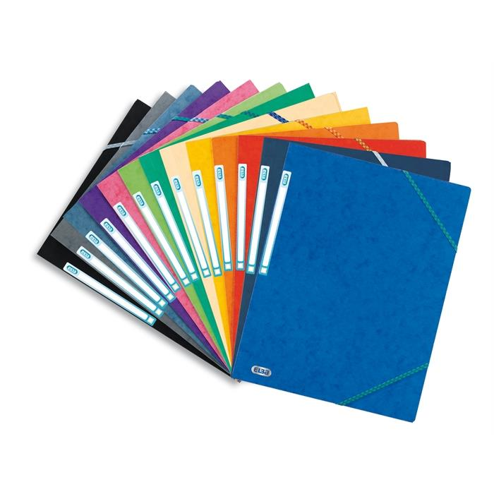 Elba Top File A4 Folder Elasticated 3Flaps Assorted Tradition, Picture 1