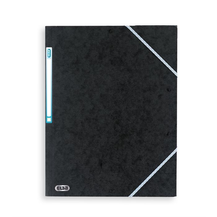 Elba Top File  A4; Three-Flap File Black, Picture 1