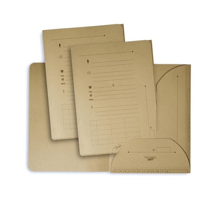 Elba Inner Folder Touareg 2 Flaps Hv; Set Of 25; A4 Kraft Natural, Picture 1