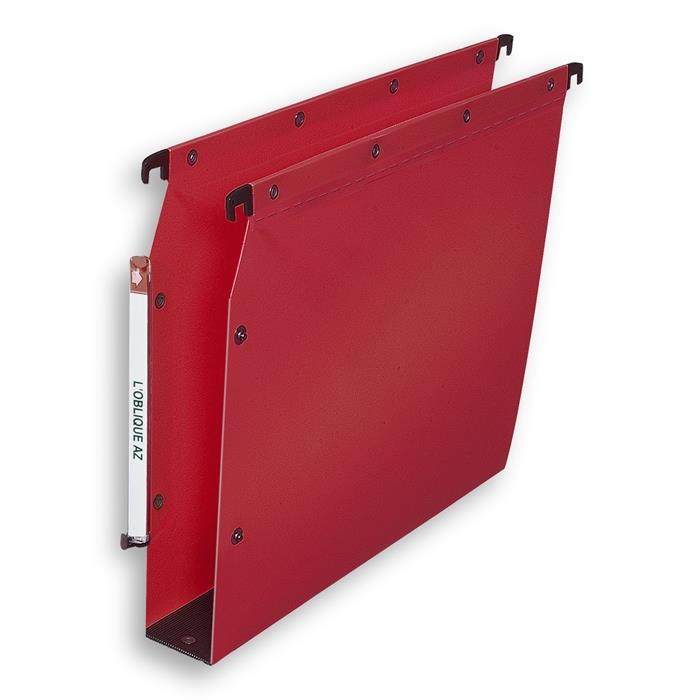 Elba Ultimate A4 Suspension File Lateral Polypropylene 50 Mm Base; Box Of 10; Opaque Red, Picture 1