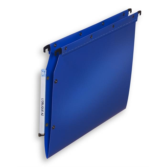 Picture of Elba Ultimate A4 Suspension File V Base Lateral Polypropylene; Box Of 10; Opaque Blue
