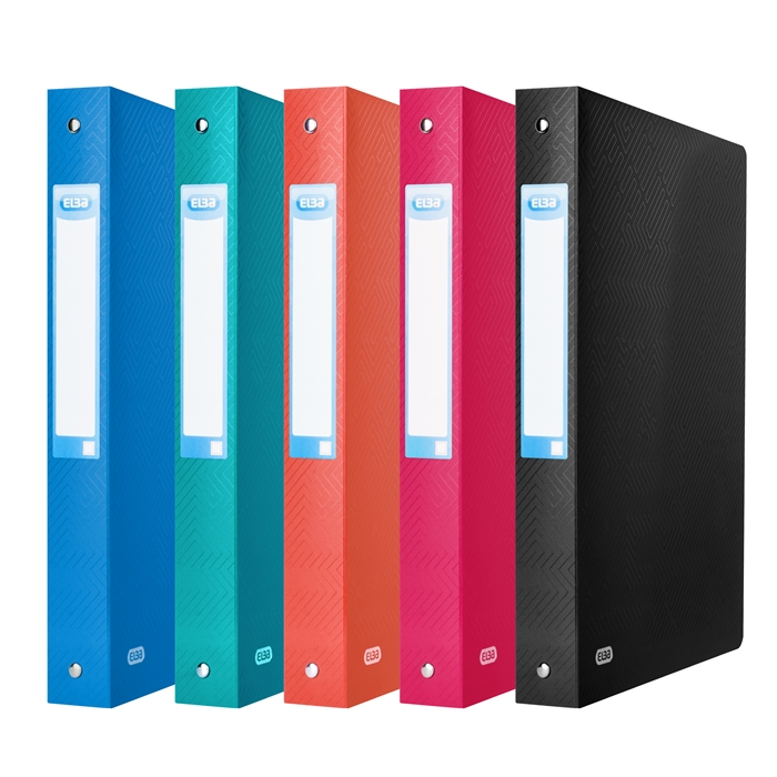 Ring Binder Elba Urban A4 40mm Spine 4 rings Assorted 5 opaque Colours, Picture 6
