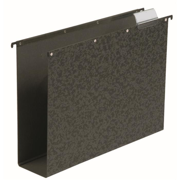 Elba Vertic folio suspension file hardboard 80mm bottom black, Picture 1
