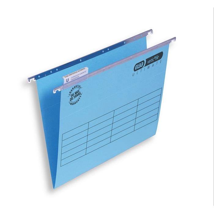Picture of ELBA verticfile ULTIMATE, folio suspension file 240gsm card V-base, blue