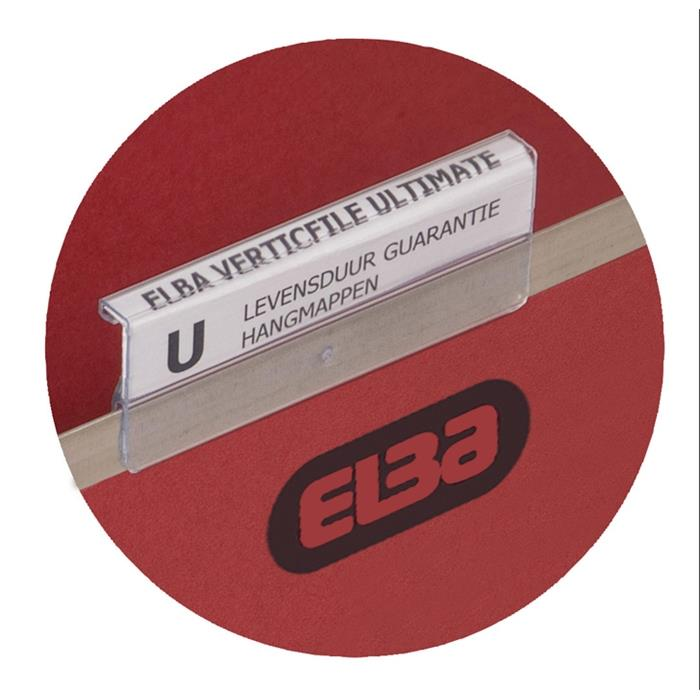 Tabs 3+1 for ELBA verticfile Suspension Files, made of clear PVC, Picture 2