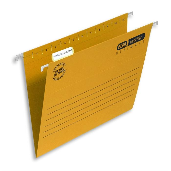 Picture of ELBA Verticflex ULTIMATE, folio suspension file 240gsm card V-base, yellow
